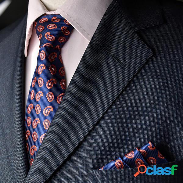 Cravatta uomo e tasca asciugamano suit attività commerciale cravatte formali jacquard