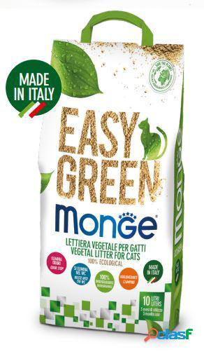 Monge lettiera vegetale easy green lt 10 per gatti, furetti e rettili