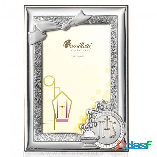 Cornice portafoto prima comunione in argento 13x18 cm