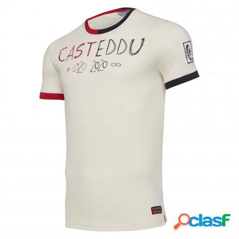 T-shirt cotone senior cagliari calcio 100° 2019/2020