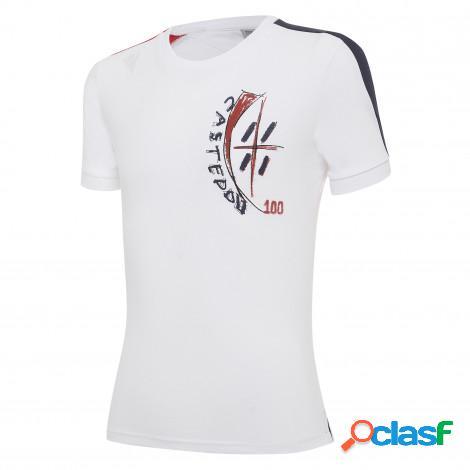 T-shirt centenario in cotone girone di ritorno junior cagliari calcio 2019/20