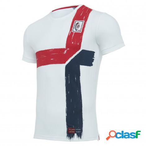 T-shirt tifoso in cotone senior cagliari calcio 100° 2019/2020