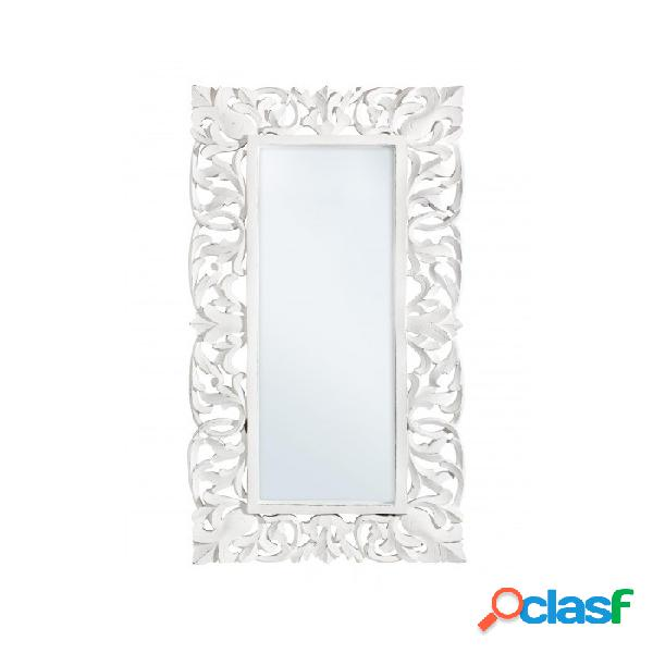 Arredinitaly outlet specchio c-c dalila bianco antico 60x120