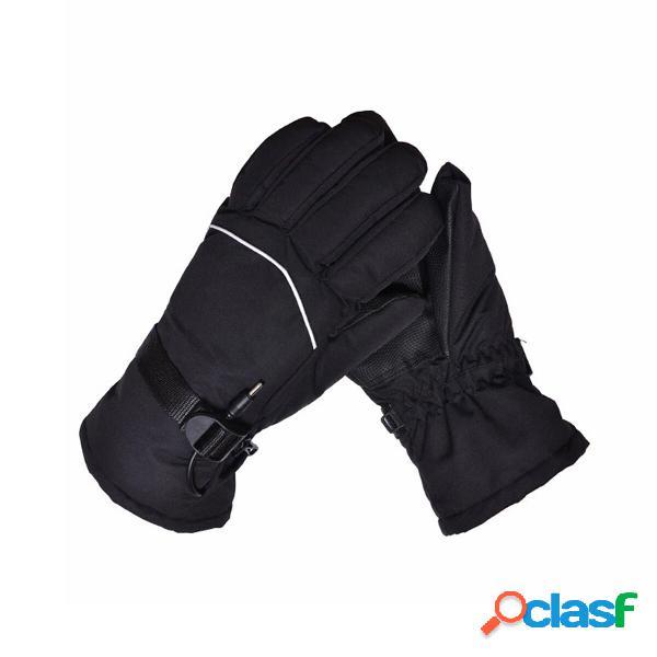 Riscaldamento elettrico per motocicletta 12v guanti scaldamani termico invernale impermeabile
