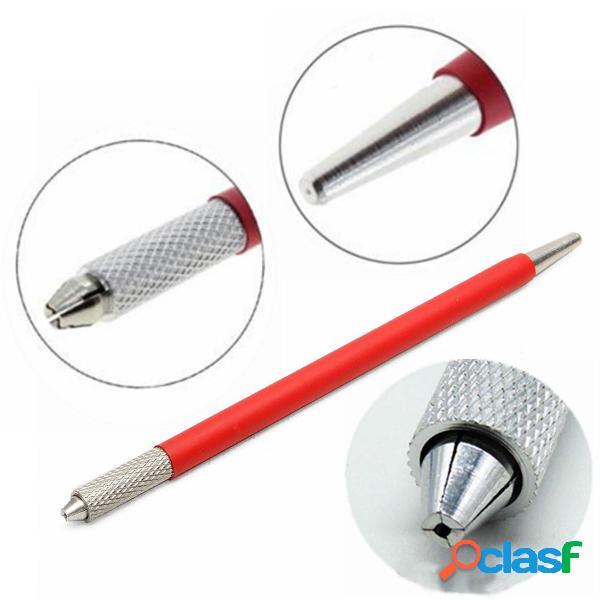 Penna sopracciglio eyeliner manuale in acciaio inossidabile trucco semipermanente penna per macchina tatuaggio