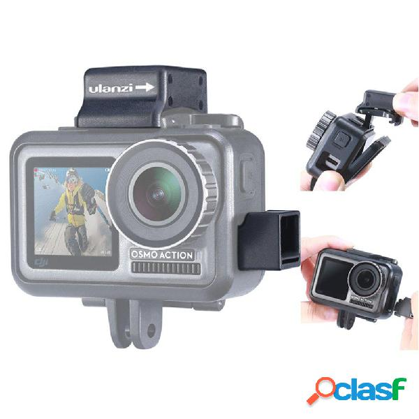 Ulanzi osmo action vlog cage expansion part microfono mount clip clamp for dji osmo action fpv fotografica