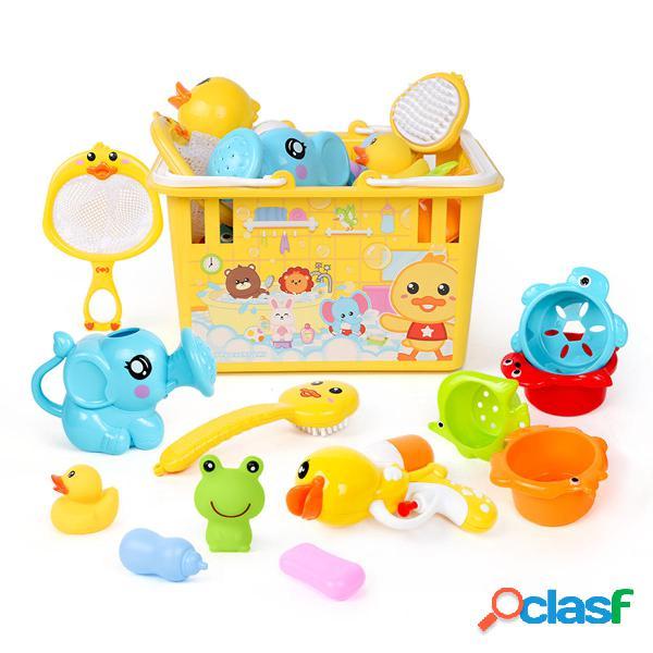 7/12 pcs cassaforte per bambini abs set da bagno multicolore con giochi da regalo per bambini