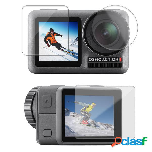 Sheingka flw307 lente pellicola proteggi schermo doppio proteggi schermo per dji osmo action sports fotografica