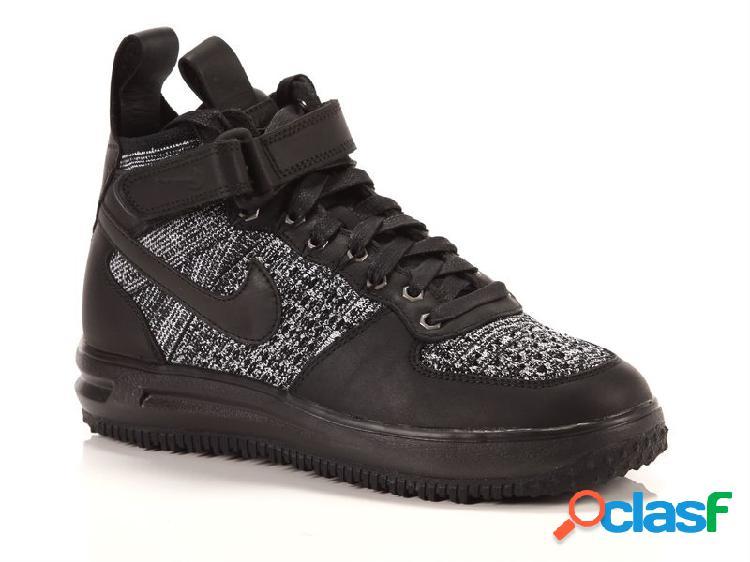 Nike wmns lunar force 1 flyknit workboot black, 36, 36½, 37½, 38, 38½, 39, 40, 40½, 41 donna, grigio