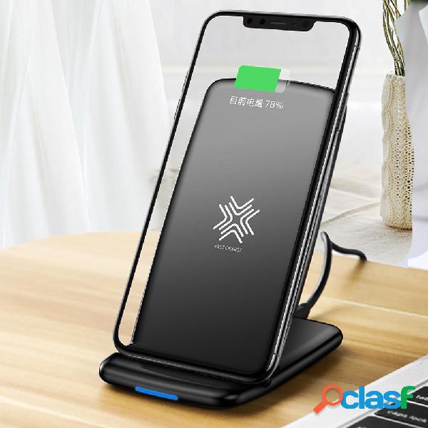 Rock w3 10w qi caricatore di ricarica veloce wireless sellphone dock station per iphone x 8 / 8plus samsung s8 s7