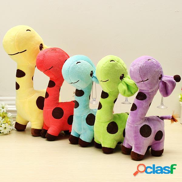 Multicolore cartone animato peluche giraffa sika cervo farcito giochi bambini regalo