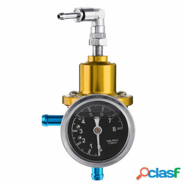 Regolatore di pressione regolabile universale per auto per auto 8 kg / cm² con kit kit di indicatori kpa olio