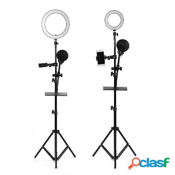 16 / 25cm dimmerabile led supporto per treppiede per anello video con supporto per telefono / microfono otturatore selfi