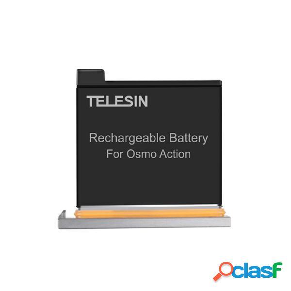Telesin 1300mah ricaricabile batteria per accessori dji osmo action sport fotografica