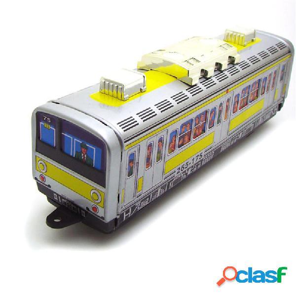 Classic l'orologio vintage train subway train up reminiscence i bambini giocano i giocattoli di stagno con chiave