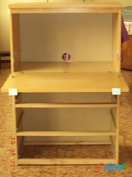 Mobile multiuso: portapc, scrivania, libreria, cassettiera, ...
