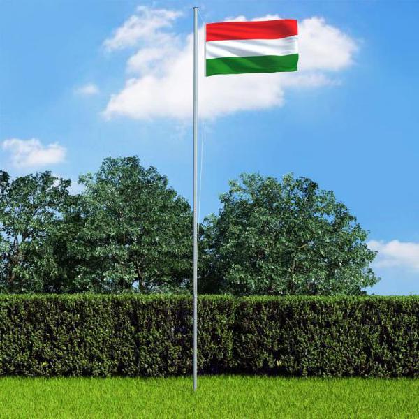 Vidaxl bandiera dell'ungheria 90x150 cm