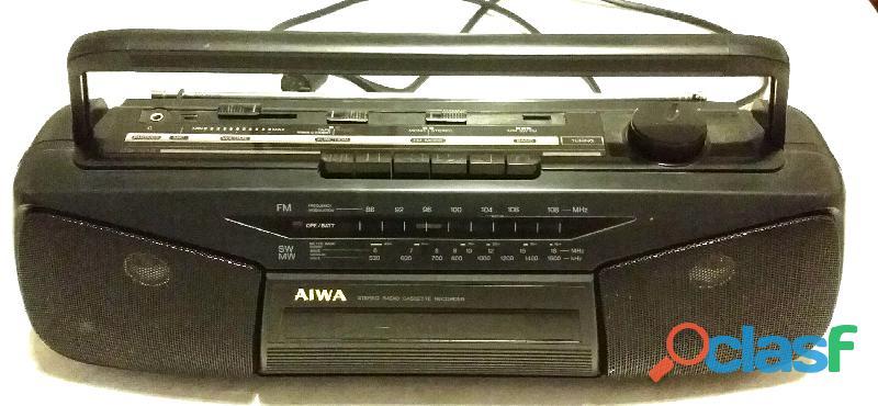 STEREO AIWA MOD.CS N15Z A CASSETTE RADIO RECORDER FUNZIONA A CORRENTE/BATTERIA PERFETTO
