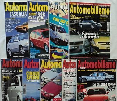 Automobilismo nove riviste in blocco fra 1992 e 2000.