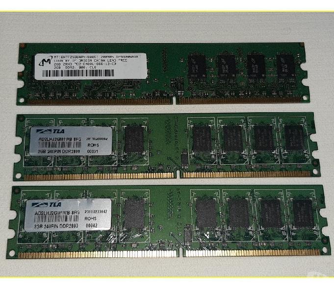 Memoria ram ddr2 6gb 3x2gb