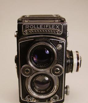 Tradizionale reflex rolleiflex biottica 6x6 planar 3,5 f