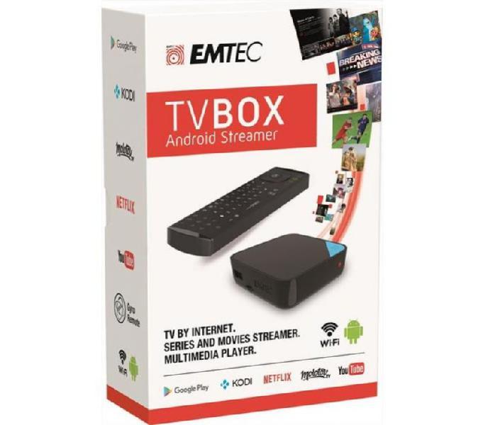 Tv box emtec trasforma una tv normale in smat tv