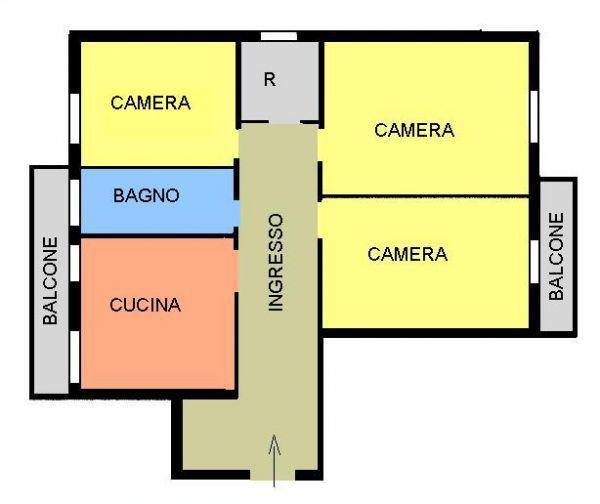 Appartamento ampio e luminoso a 200 m dal centro storico