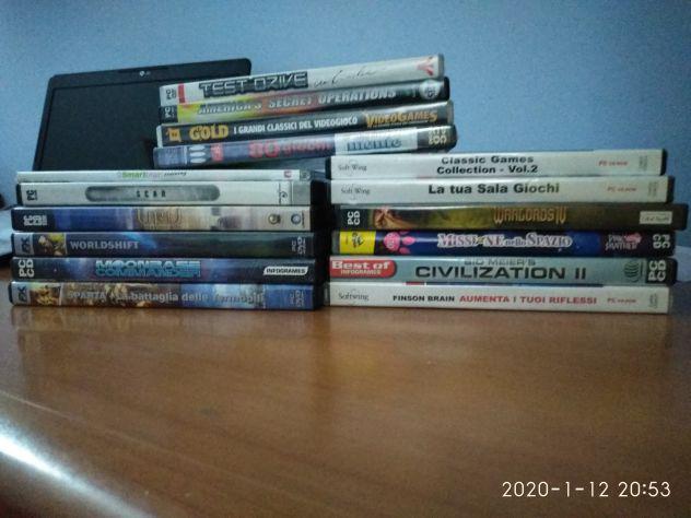 16 giochi in cd rom per computer euro 30