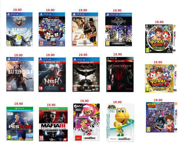 Giochi ps4-ps3-one-3ds e amiibo nintendo