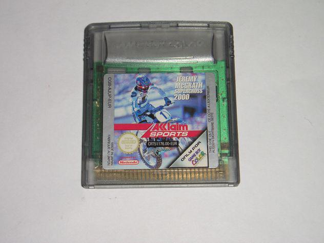 Gioco game boy color - jeremy mcgrath supercross 2000