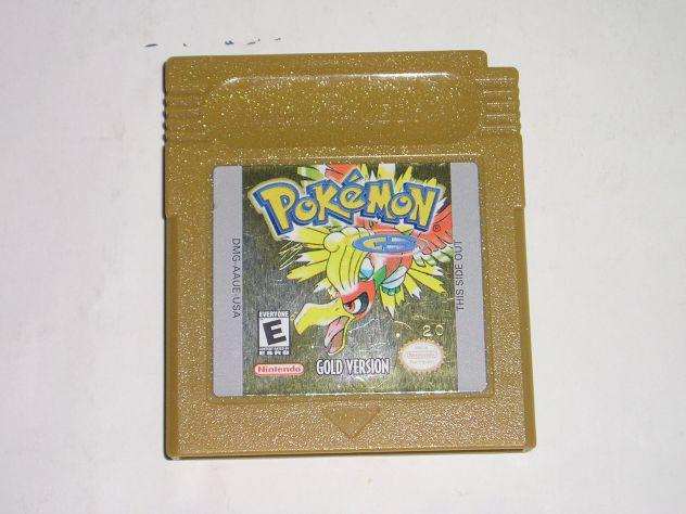 Gioco game boy color - pokemon version gold (vesrsione oro)