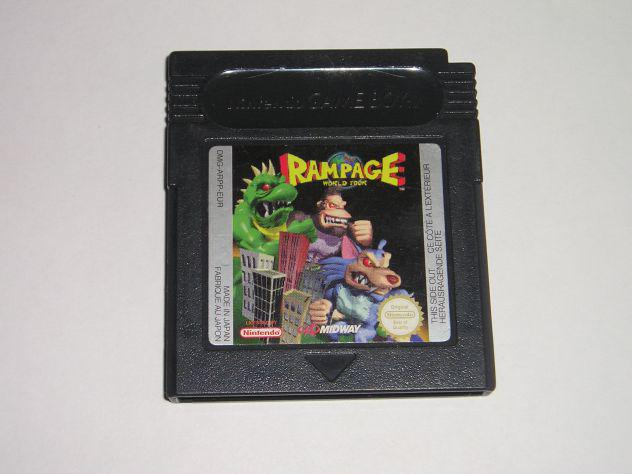 Gioco game boy color - rampage world tour