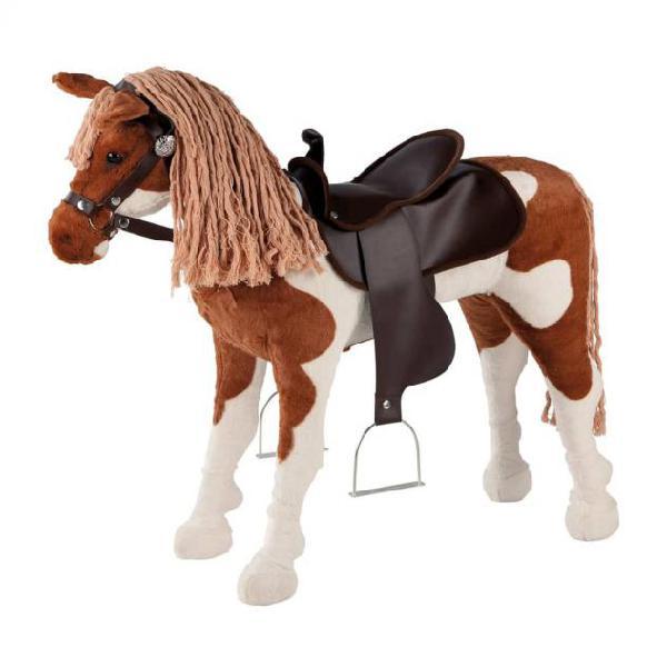 Happy people cavallo giocattolo western con suoni marrone e
