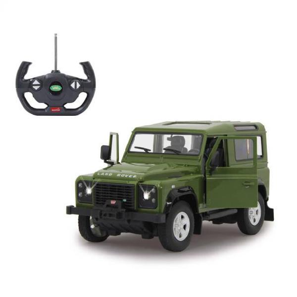 Jamara fuoristrada rc land rover defender verde 1:14