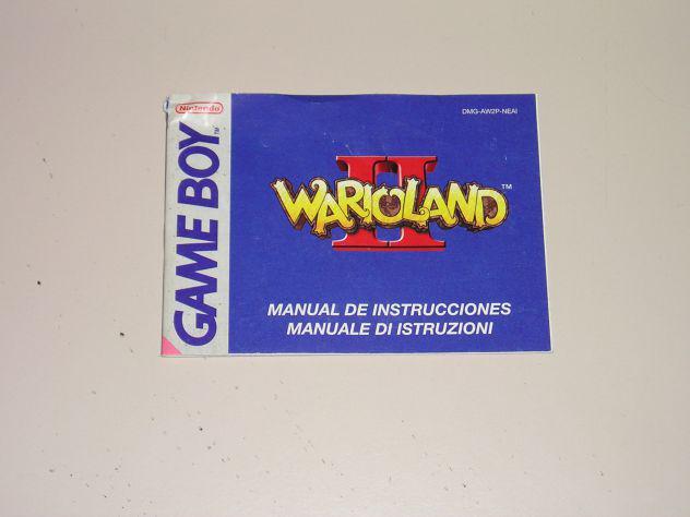 Manuale di istruzione originale nintedo game boy - warioland