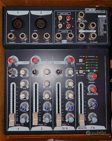 Mixer dg 4 canali con effetti nuovissimo