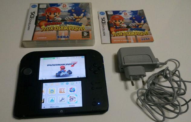Nintendo 2ds + mario kart 7 + mario e sonic