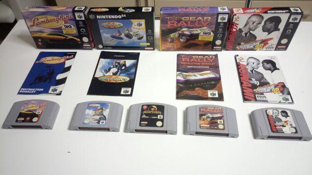 Nintendo 64 lotto 5 giochi con scatole e manuali