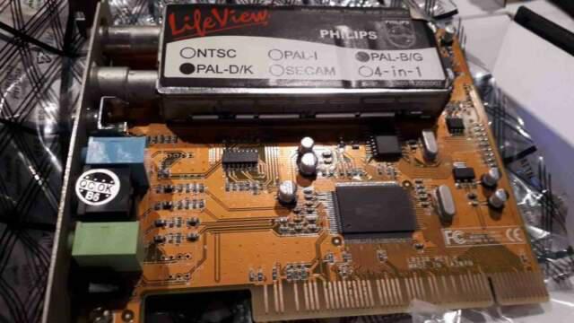 Scheda pci tv + radio analogico lifeview