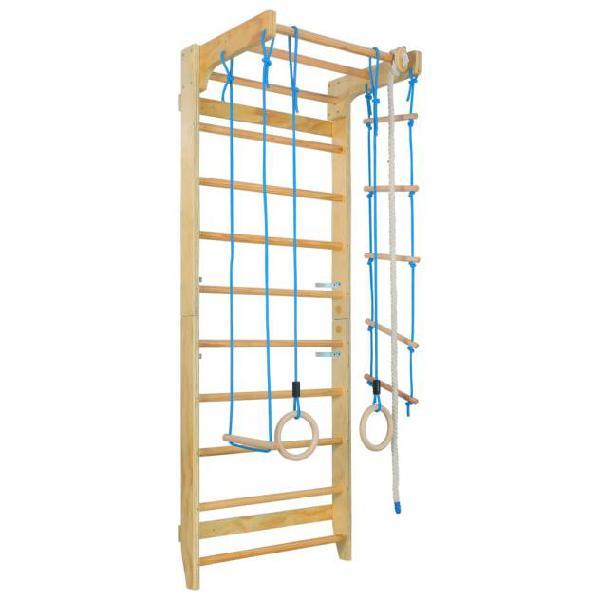 Vidaxl set gioco arrampicata per interni scalette e anelli