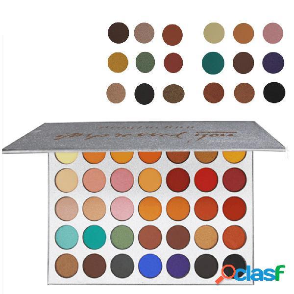Palette di ombretto in 35 colori con effetto glitter opaco trucco occhi