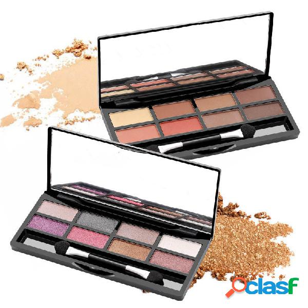 Palette per ombretti shimmer con 8 colori palette per ombretti smoky con mini glitter