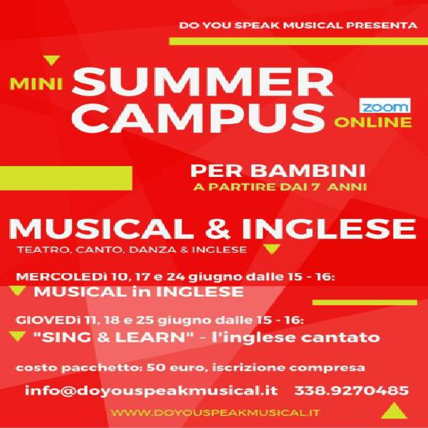 Corso di musical in inglese per bambini