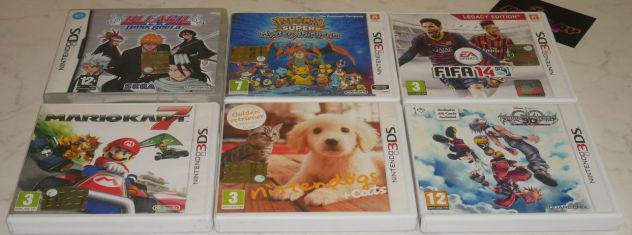 Giochi nintendo ds/3ds pokemon, mario, starfox, nintendogs