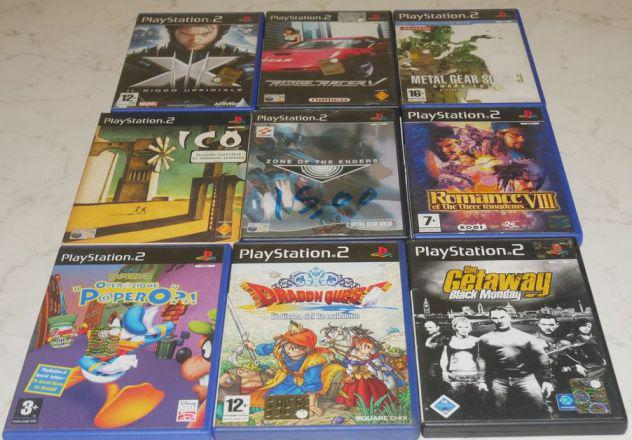 Giochi playstation 2 ps2 ita completi mgs, ico, dragon quest