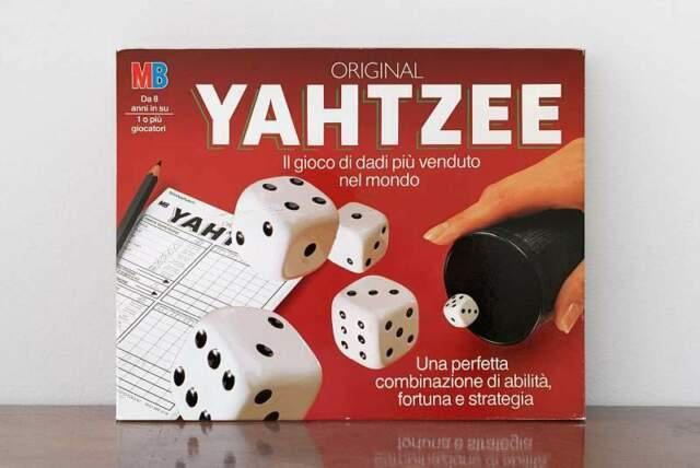 Gioco in scatola yahtzee mb giochi 1982 (completo)