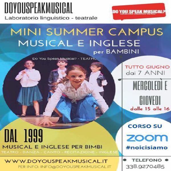 Summer campus di musical e inglese per bambini on line