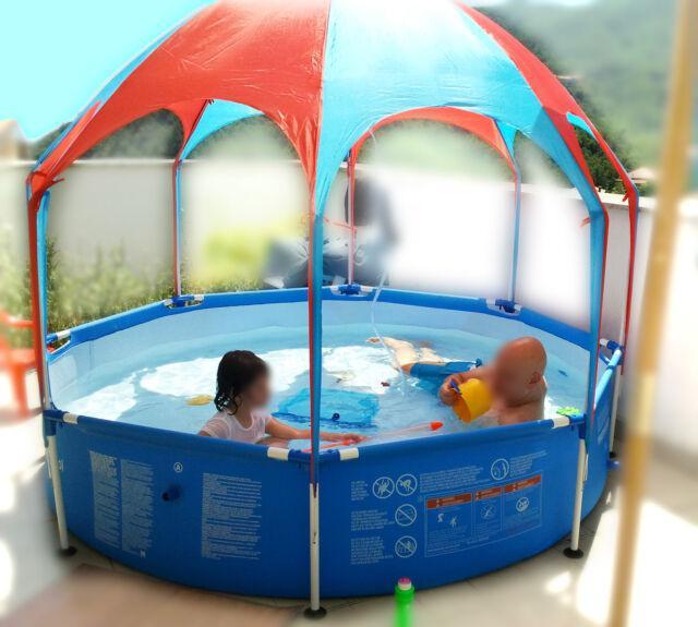 Piscina per bambini bestway 244x51 con gazebo e doccino