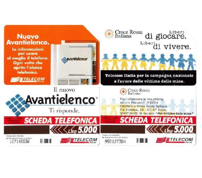 22 schede telefoniche usate da collezione italia