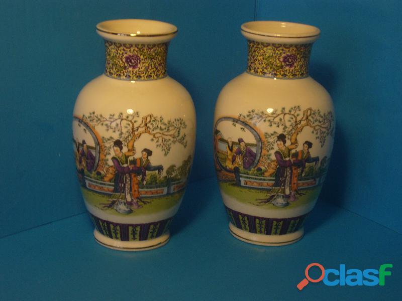 Coppia vasi giapponese diametro centrale cm 12 altezza 21 cm